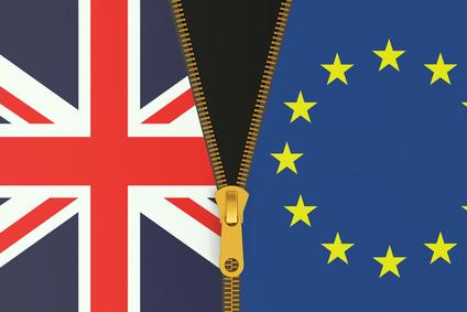 Great Britain and EU, Brexit referendum concept.