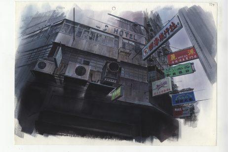 Background illustration for Ghost in the Shell by Hiromasa Ogura -® 1995 Shirow Masamune, KODANSHA -À BANDAI VISUAL -À MANGA ENTERTAINMENT Ltd (1)