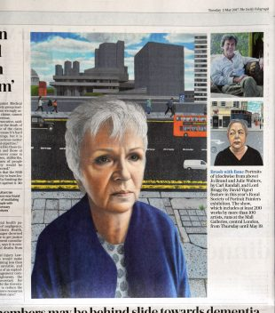 Daily Telegraph article on Carl Randall's portraits